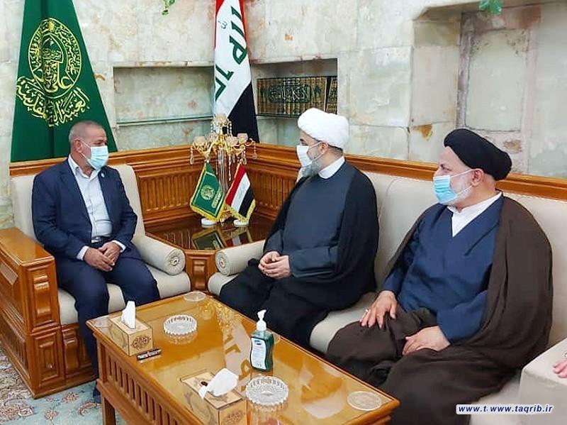 بازدید دبیرکل مجمع تقریب مذاهب اسلامی از عتبه مقدس علوی در کشور عراق