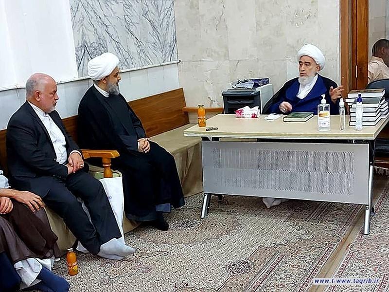 دیدار دبیرکل مجمع تقریب و آیت الله شیخ حسن جواهری در کشور عراق
