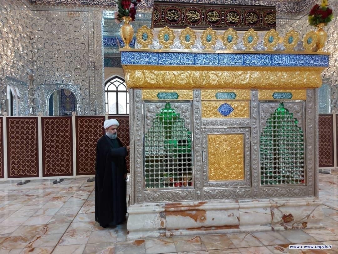 حضور دبیرکل مجمع تقریب بر مزار شهید آیت الله سید محمد باقر حکیم در عراق