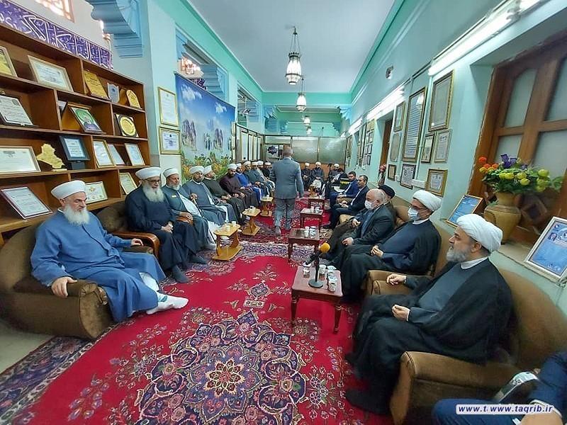 دیدار دبیرکل مجمع تقریب با رئیس دار الافتاء عراق به همراه جمعی از علمای دارالافتاء