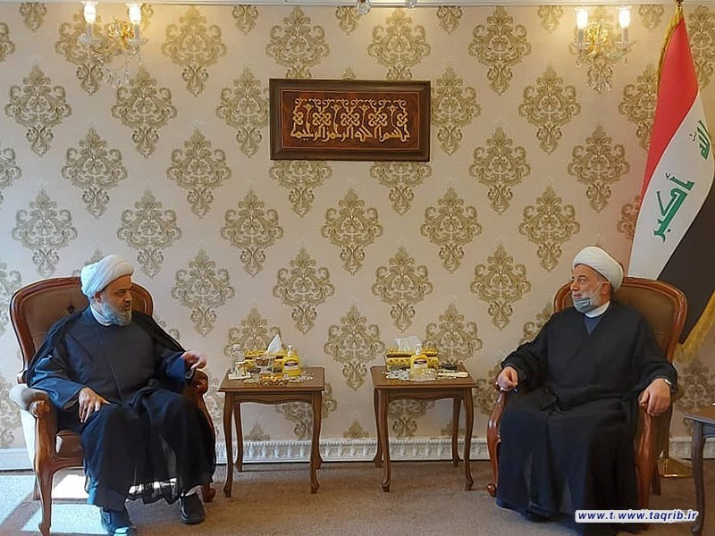 دیدار دبیر کل مجمع تقریب با شیخ همام حمودی رئیس مجلس اعلای عراق