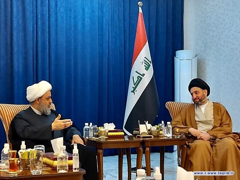 دیدار دبیرکل مجمع تقریب با سیدعمار حکیم رهبر جریان حکمت ملی عراق
