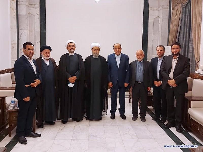 دیدار دبیرکل مجمع تقریب با نوری مالکی نخست وزیر سابق و دبیرکل حزب الدعوه عراق