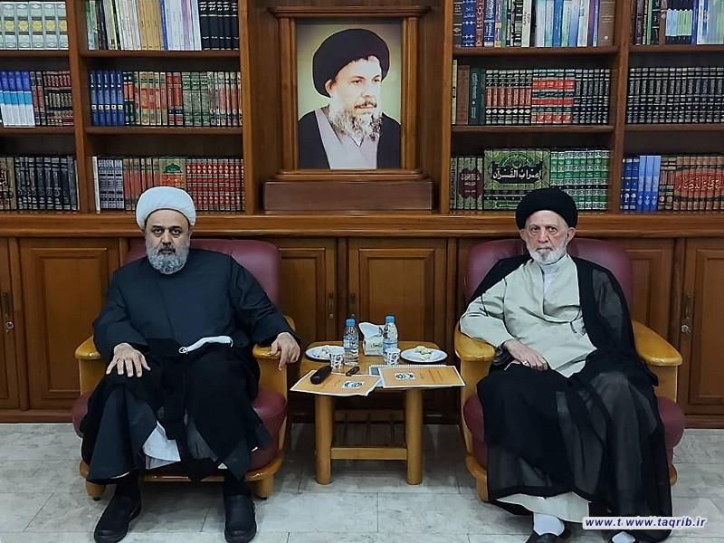 دیدار دبیرکل مجمع تقریب با آیت الله سید محمد حیدری در عراق