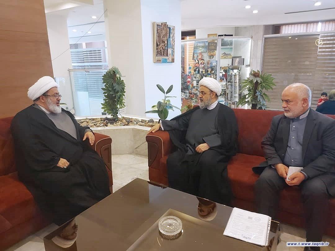 دیدار دبیرکل مجمع تقریب و رئیس مجلس ملی ادیان عراق شیخ دکتر یوسف الناصری