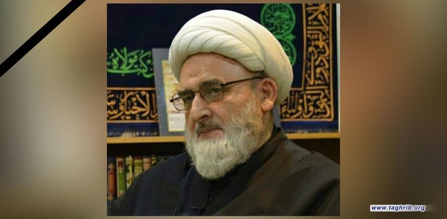آية الله الأراكي يعزي بالشيخ حسين الكوراني