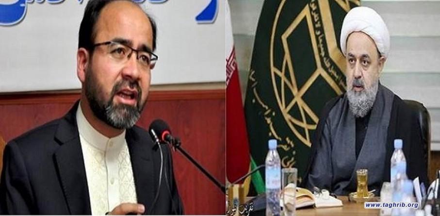 گفتوگوی تلفنی حجت الاسلام والمسلمین شهریاری با وزیر سابق اوقاف و حج افغانستان