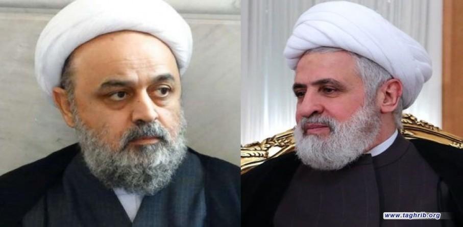 شیخ نعیم قاسم در دیدار با دکتر شهریاری: تقریب مذاهب پاسخی موثر در مقابله با مبلغان تکفیر و تروریسم است