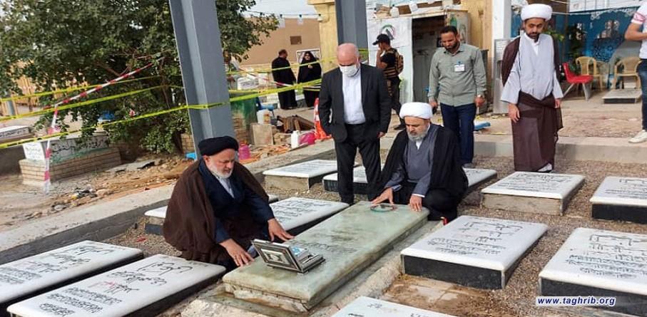 از سوی دبیرکل مجمع تقریب صورت گرفت | ادای احترام به ابومهدی المهندس و سایر شهدای مقاومت