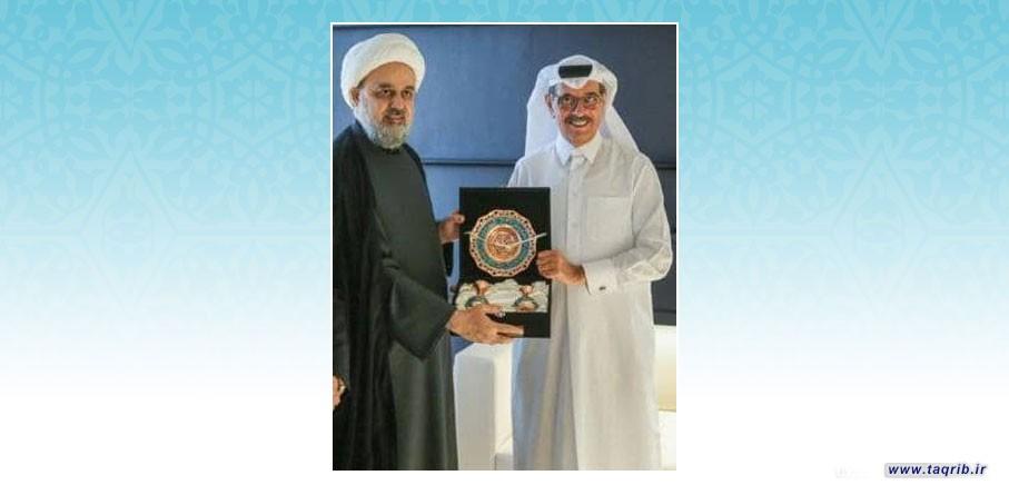 دیدار دبیرکل مجمع جهانی تقریب مذاهب اسلامی با وزیر دولت قطر