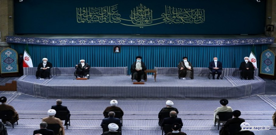 دیدار میهمانان کنفرانس وحدت اسلامى و جمعی از مسئولان نظام با رهبر معظم انقلاب اسلامی