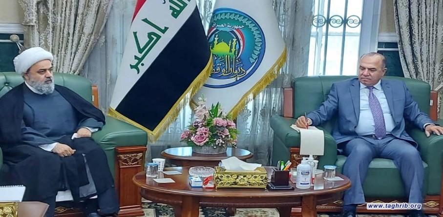 دیدار دبیرکل مجمع تقریب با رئیس دیوان وقف سنی عراق سعد حمید کمبش