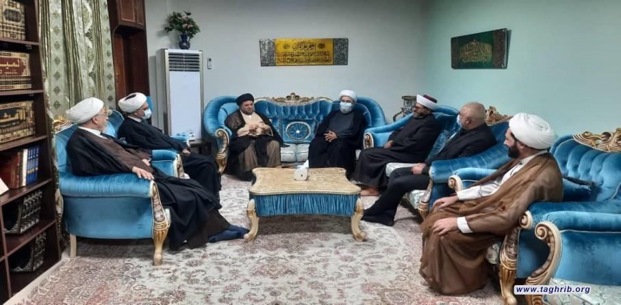 دیدار دبیرکل مجمع تقریب و شیخ علی العلاق نماینده سابق پارلمان عراق و رئیس مجمع وحدت