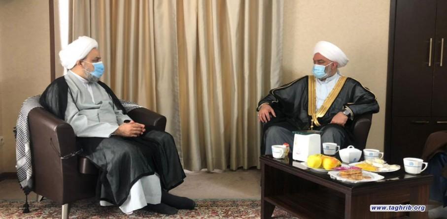 ديدار حجت الاسلام والمسلمین دکتر شهریاری با شيخ خالد الملا رئيس تجمع علماى عراق